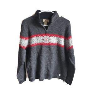 WOOLRICH Wool 1/4 Zip Pullover Sweater Women's